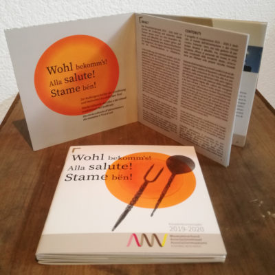 new work: Wohl bekomm's – Alla salute! – Stame bën!